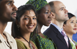multicultural business people
