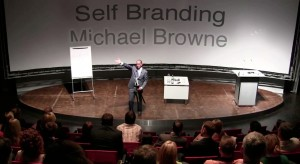 photo of Michael Browne presenting his Self Branding Seminar to SAP